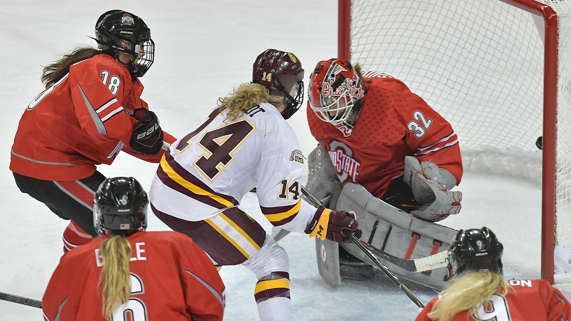 No 7 8 Bulldogs Will Jump Back Into Wcha Play At No 7 Ohio State